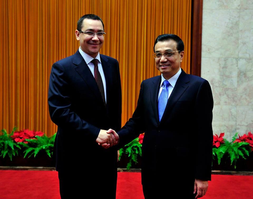 Victor Ponta si  Li Keqiang